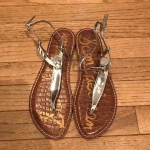 Sam Edelman Gigi Silver Sandals - size 8